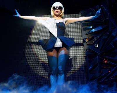 Lady GaGa doing her performance