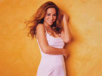 Smiling Mariah Carey