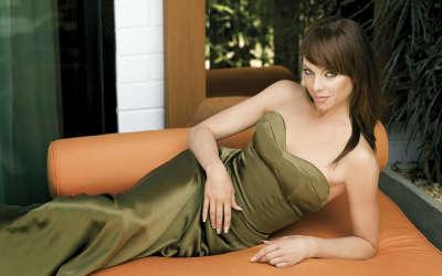 Melinda Clakre with fashion dress