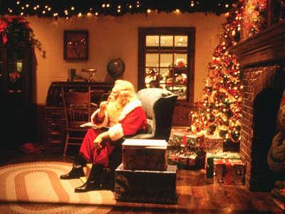 Santa is seating