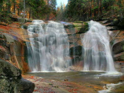 Amazing Waterfall In Forrest