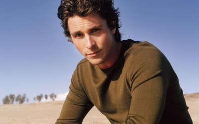Christian Bale On The Beach