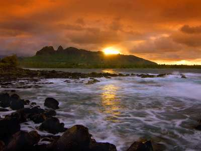 Island Seascape Kauai Hawaii