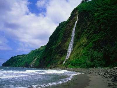 Kaluahine Waterfall Waipio Valley Hamakua Coast Hawaii