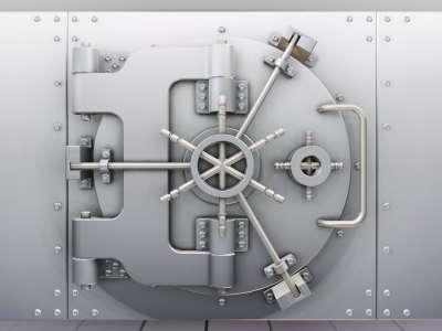 Locked Door In The Bank