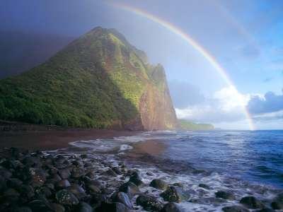 Misty Rainbow Waialu Valley Molokai Hawaii