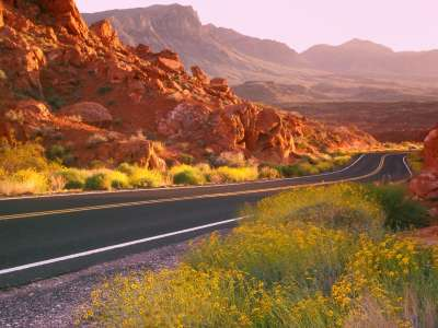 Valley Of Fire in State Park Nevada