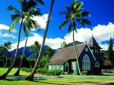 Waioli Huiia Church Hanalei Kauai Hawaii