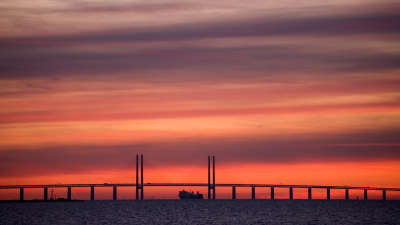 Huge Bridge Sunset