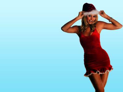 Stacy Keibler Santa