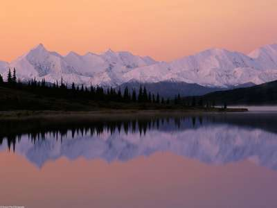 Denali Sunrise Over Wonder Lake Alaska