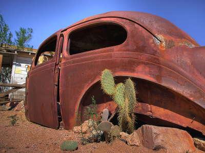 Abandon Car in Desert