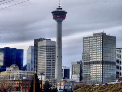 Calgary Tower With Flame