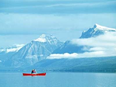 Canoeing At Glacier National Park Montana