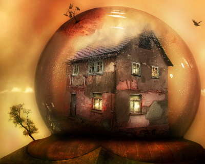 House In Bubble