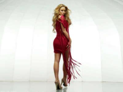 Mariah Carey in  Red Dress