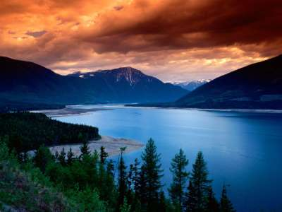 Upper Arrow Lake in British Columbia - Canada