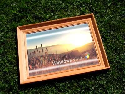 Windows Vista in frame