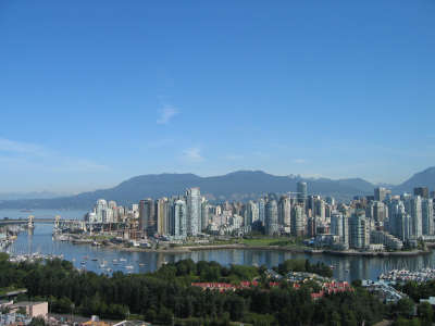 Downtown Vancouver  Mountains