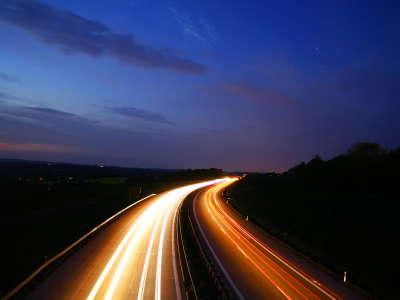 Traffic Road in night