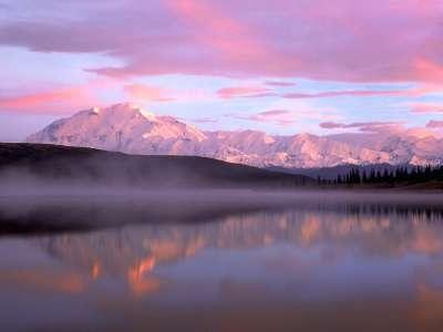 Wonder Lake And Mount Denali Denali National Park