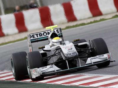 Nico Rossberg testing in Barcelona