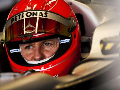 Michael Schumacher In The Team Garage