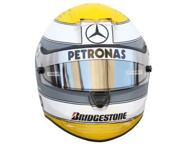 Nico Rosberg Helmet from Front