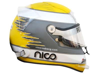 Nico Rosberg Helmet from Side