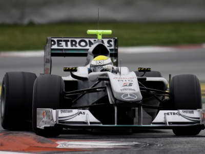 Nico Testing In Barcelona