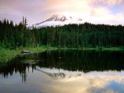 Sunrise At Reflection Lake Mount Rainier in Washington