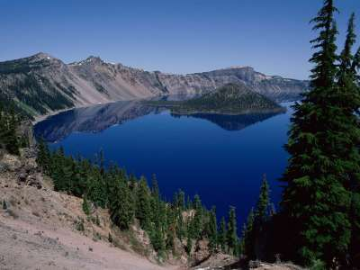Wizard Island Crater Lake in Oregon