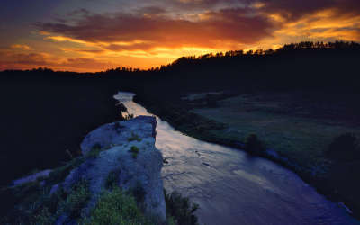 River and Sunset