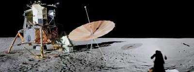 Space Radar On Moon