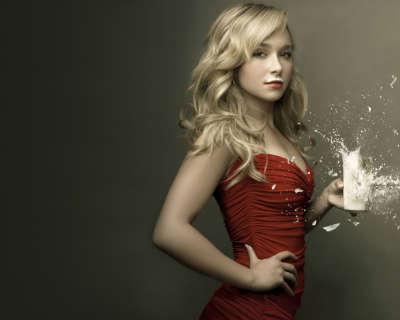Woman drinking a milk