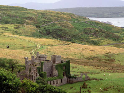 Clifden Castle in County Galway Ireland