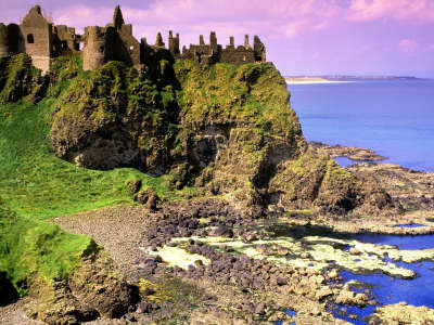Dunluce Castle County Antrim in Ireland