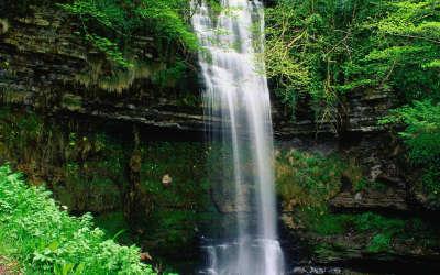 Glencar Waterfall County Leitrim Connaught in Ireland