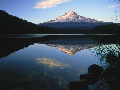 Mount Hood From Trillium Lake in Oregon