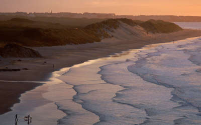 Portrush Beach County Antrim in Ireland
