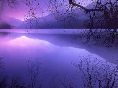 Purple Haze Over Lake Crescent Olympic National Park