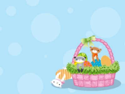 Easter Monkey Basket