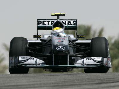 Nico Rosberg in F1 Bahrain Practice