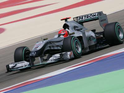 Michael Schumacher in F1 Bahrain Qualify
