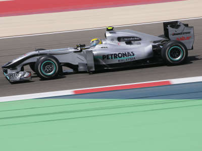 Nico Rosberg in F1 Bahrain Qualify