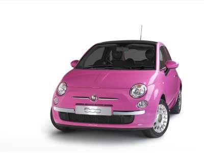 Fiat 500 Pink Topless