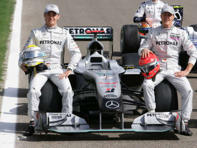 Nico Rossberg And Michael Schumacher