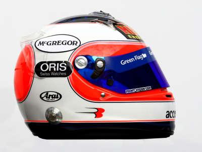 Rubens Barrichello Helmet from Side