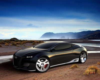 Black Audi Concept Car
