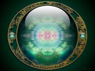 Green Fractal Ball